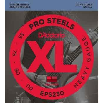 D´addario EPS230 ProSteels Heavy cuerdas para bajo